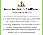 Business Opportunity For Tribal Members
