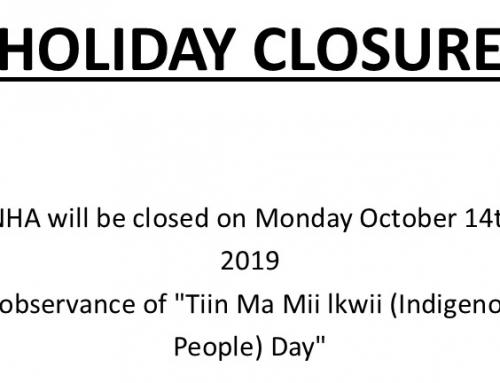 Holiday Closure
