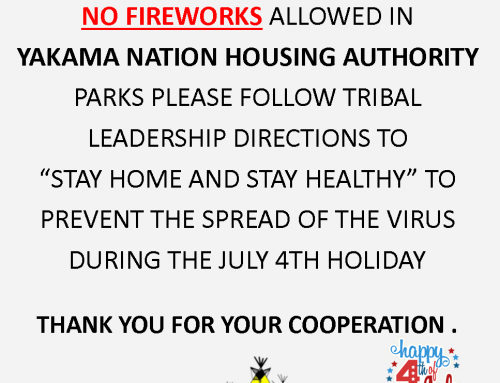 NO FIREWORKS IN Y.N.H.A. PARKS