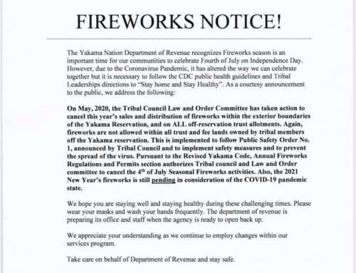 YN Fireworks Notice