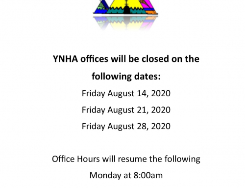 YNHA Office closure dates